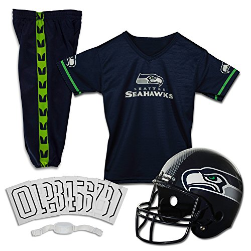 Franklin Sports NFL Seattle Seahawks Deluxe Youth Uniform Set, Medium (Football For Boys compare prices)