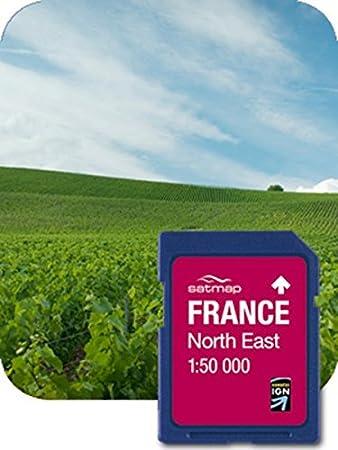 SATMAP Carte: France Nord-Est 1:50k
