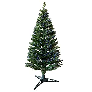 "72"" (6FT) Green LED Fibre Optic Christmas Tree - Multi Colour LED Fibre Optics"
