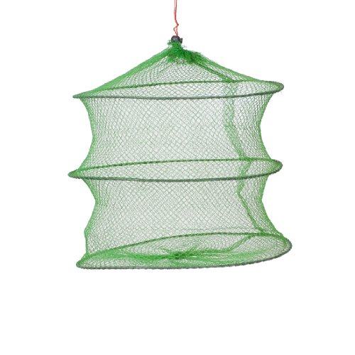 Como Green Foldable 2 Layers Fish Shrimp Trap Keep Net