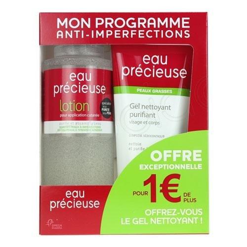 Coffret Lotion Eau Précieuse 375 ml + Gel nettoyant purifiant 150 ml