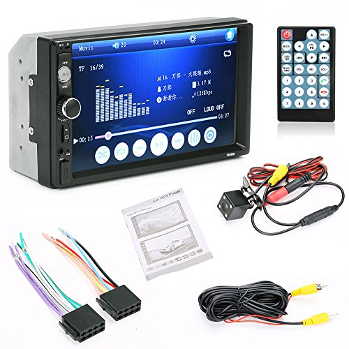 APG 7'' HD 2 DIN USB/FM/MP3/MP5 AUX Bluetooth Touch Screen Car Stereo Radio + Camera (Ca Stereo compare prices)