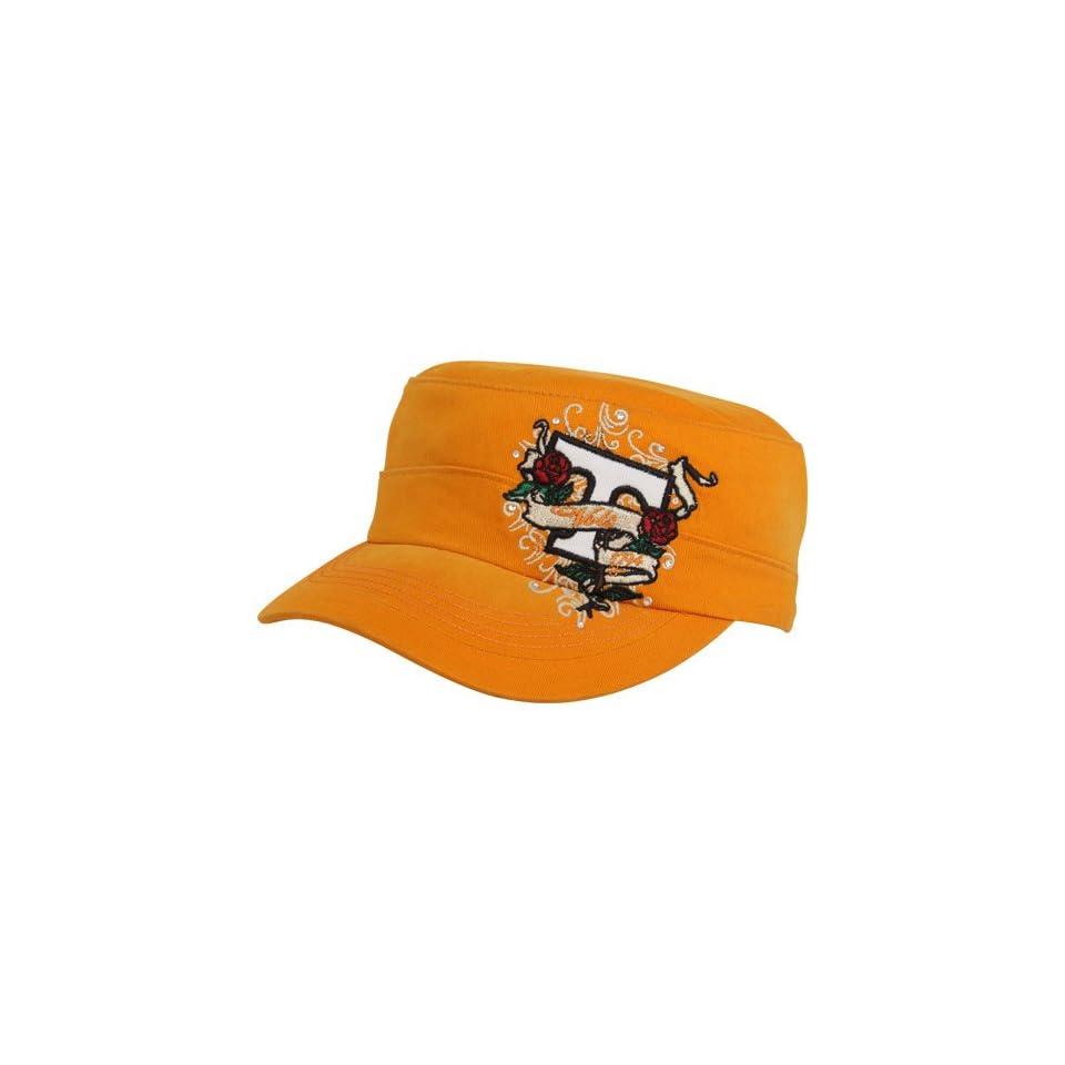 NCAA Top Of The World Tennessee Volunteers Ladies Tennessee Orange Eve Adjustable Military Style Hat