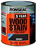 Ronseal 5 Year Woodstain 750ml Ebony