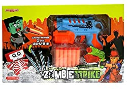 Toys BhoomiRAPID FIRE SOFT BULLET GUN with 2 ZOMBIE TARGETS