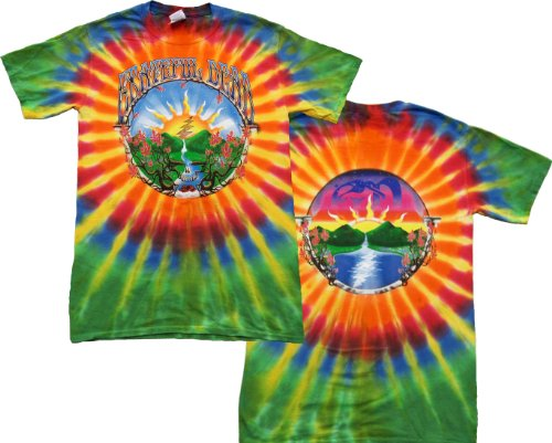 Tie Dyed Shop Waterfall Grateful Dead T Shirt For Men And Women-Large-Multicolor front-321268
