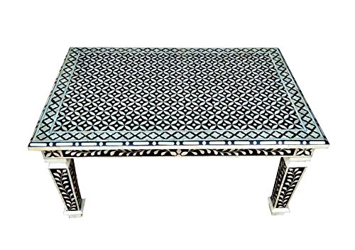 "Bone Inlay Hand Crafted 36"" Rectangle Coffee Table"