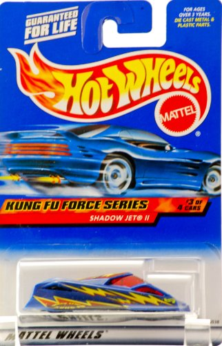 2000 - Mattel - Hot Wheels - Kung Fu Force Series #3 of 4 - Shadow Jet II (Blue) Dragon Style Kung Fu Graphics - Red Tinted Windows - New - Out of Production - Limited Edition - Collectible - 1