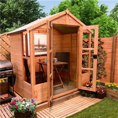 BillyOh 4 x 6 Tete a Tete Tongue and Groove Garden Summerhouse