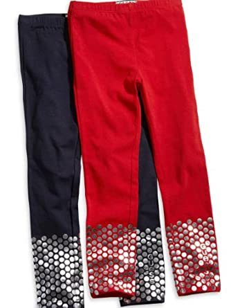 Guess Girls 2T-6X Navy Foil Dot Leggings (5/6, Navy)