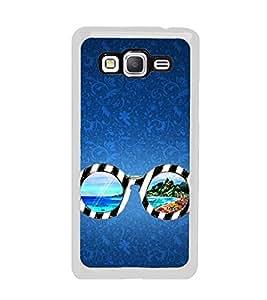 Beach Glasses 2D Hard Polycarbonate Designer Back Case Cover for Samsung Galaxy Grand Prime :: Samsung Galaxy Grand Prime Duos :: Samsung Galaxy Grand Prime G530F G530FZ G530Y G530H G530FZ/DS