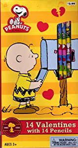 Peanuts Snoopy Valentine Cards for Kids with Pencils (49107)