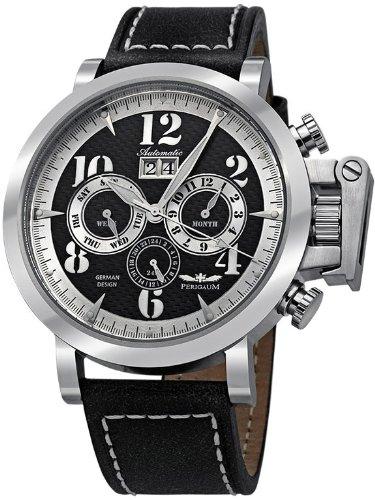 Perigaum 1972 Automatic Reloj elegante para hombres Carcasa Maciza
