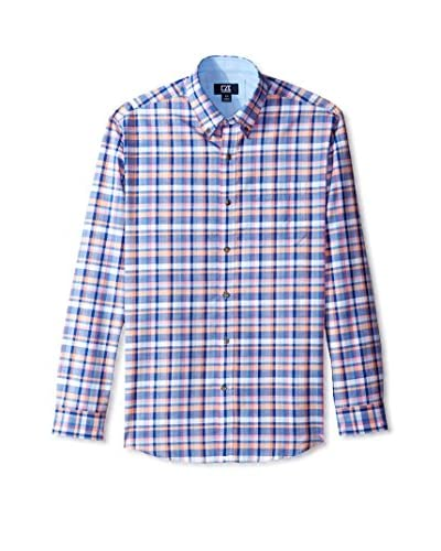 Cutter & Buck Men's Long Sleeve Serene Plaid Shirt