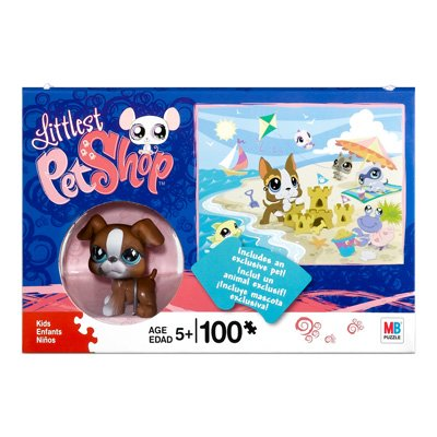 Littlest Pet Shop 100 Piece Puzzle with Boxer Dog Figure