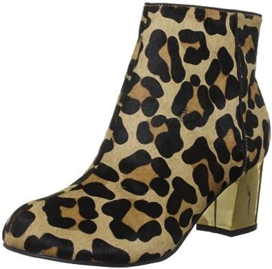 Dune Women's Nova Leopard - Pony Ankle Boots 5 UK
