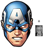 Mask Pack - Captain America from Marvel's The Avengers Single Card Party Face Mask includes 6x4 inch (15cm x 10cm) Star Photo