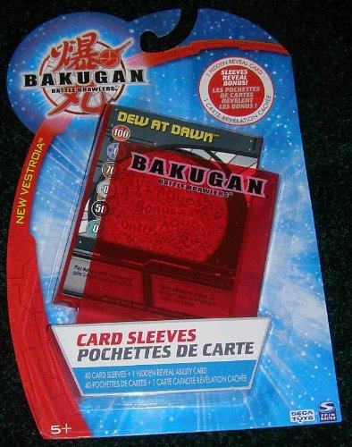 BAKUGAN SEASON 2 VESTROIA PYRUS RED CARD SLEEVES PROTECTORS (40 SLEEVES) + 1 HIDDEN REVEAL CARD (CARD WILL VARY! RANDOM CARD)