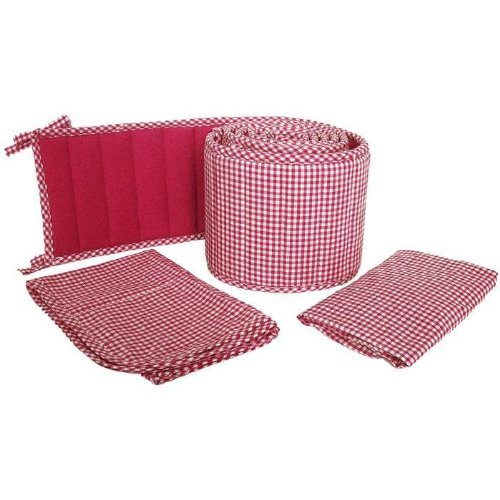Tadpoles Classics Gingham Red - Cradle Set