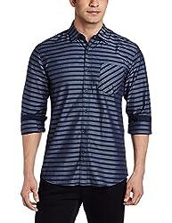 Wrangler Men's Casual Shirt (8907222640835_W14801640338_X-Large_Rinse)