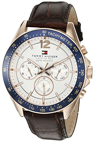 Tommy-Hilfiger-Mens-1791118-Sophisticated-Sport-Watch-with-Brown-Leather-Band