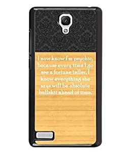 PrintVisa Metal Printed Quotes Designer Back Case Cover for Xiaomi Redmi Note-D4959
