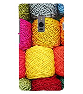 ColourCraft Colourful Wool Design Back Case Cover for OnePlus Two