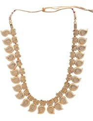 Preethi Gold Plated Gold Metal Chain Necklace For Women (Preethi_45)