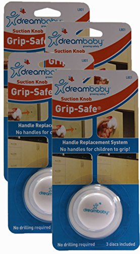 Dreambaby Grip-safe Suction Knob, White (Pack of 4)