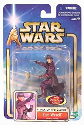 Star Wars Episode 2 Zam Wesell With Face Reveal Action Action Figure from Hasbro
