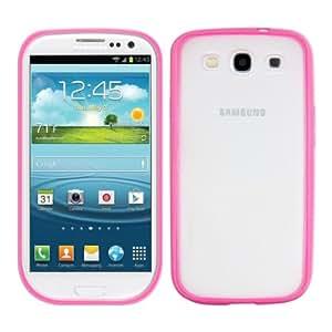kwmobile TPU Silikon Crystal Case für das Samsung Galaxy S3 i9300 / S3 Neo i9301 mit transparenter Rückenfläche und Rahmen in Pink - Schick und schlicht