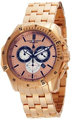 Chase-Durer Men's 850.8RRG Crossfire 18K Rose Gold-Plated Stainless Steel Chronograph Watch