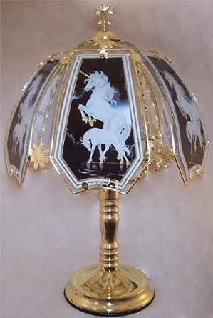 Black Chrome Unicorn Touch Lamp - Table Lamps - Amazon.com