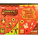 2 BOOKS of - AUTUMN - Fall - Mini STICKERS (796 total stickers) Thanksgiving - Halloween Kid's ACTIVITY Craft Party FAVORS -Scrapbooking PARTY PROJECT