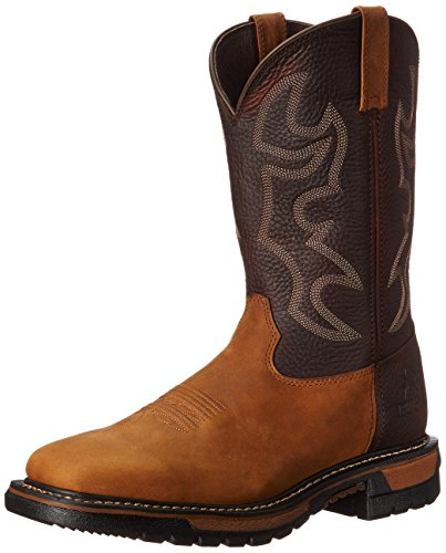Rocky Men's 11 Inch Original Ride W037 Western Boot,Saffron Brown/Bridle Brown,11.5 W US