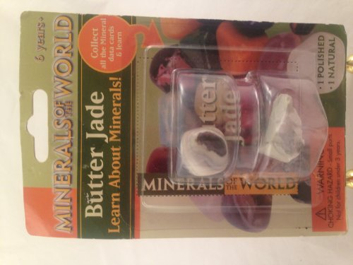 Minerals of the World Butter Jade Polished and Natural Stones with Mineral Data Card