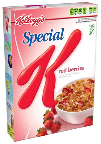 Special K Cereal, Red Berries, 16.7-Ounce Boxes (Pack of 4)