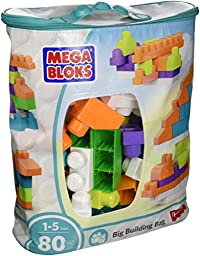 Mega Bloks First Builders Big Building Bag, 80-Piece (Trendy)