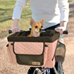 Snoozer Pet Bicycle Basket Pink/Grey