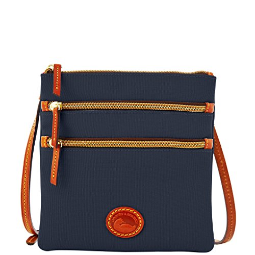 dooney-bourke-north-south-triple-zip-nylon-crossbody-navy