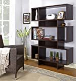 Kings Brand Espresso Finish Wood Cube Bookcase Display Cabinet