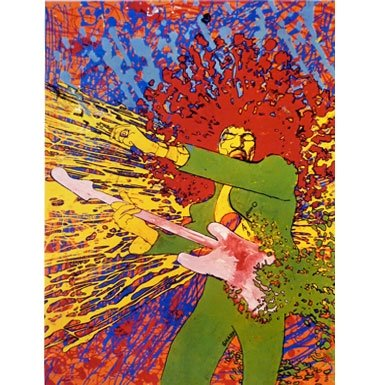Jimi Hendrix Explosion by Martin Sharp (Limited Edition Print)