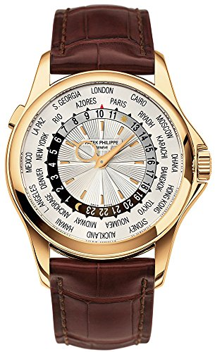 patek-philippe-complications-world-time-yellow-gold-watch-brown-strap