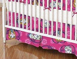 SheetWorld - MINI Crib Skirt (24 x 39) - Anna & Elsa - Made In USA
