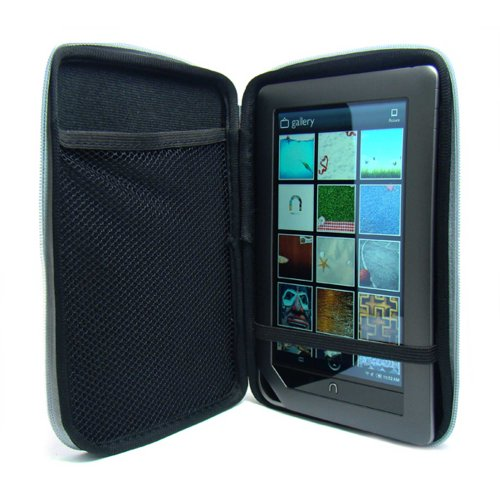 Barnes and Noble Nook Color Wireless Reading Device - Latest Generation Accessories Kit: Pink Snug Fit Hard Cube Carrying Case + Compatible Nook Color Car Charger + Compatible Nook Color Wall Charger + Live * Laugh * Love Vangoddy Wrist Band!!!