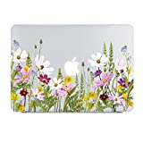 Wild Floral Clear Case Compatible MacBook Pro 13 inch Model A1502/A1425 (Retina, Early 2015/2014/2013/Late 2012) NO CD ROM, NO Touch Bar, Soft Touch Frosted See Through Hard Case (Color: Galsang, Tamaño: 13 Inches)