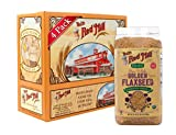Bob's Red Mill Organic Raw Whole Golden Flaxseeds, 24 Ounce (Pack of 4) (Package May Vary)
