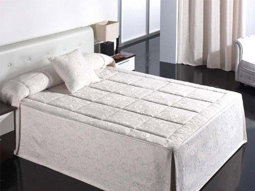 Barbadella - Colcha edredón verdu, medidas cama 105 cm