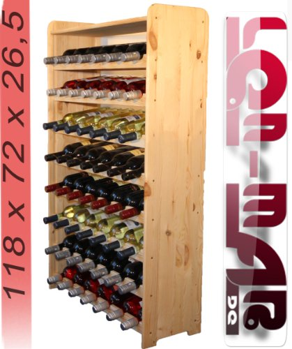 Wooden Wine Rack, Wine Bottle Rack for 56 Bottles 3-56 RW by Len Mar.de