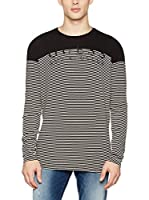 Guess Camiseta Manga Larga Ls Round (Negro / Blanco)